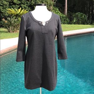 NWT Michael Kors grey 3/4 length sleeve slip dress